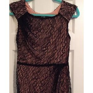 Fabulous Eva Franco black mesh dress size 4